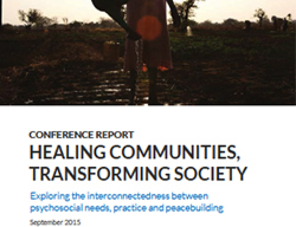Conference Report: Healing Communities, Transforming Society