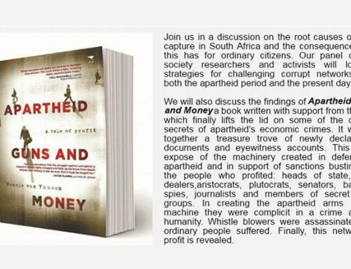 Public Dialogue Invitation: 'Challenging corrupt networks – the long shadow from Apartheid to State Capture'