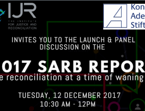 2017 SARB Report and Panel Discussion: Elusive reconciliation at a time of waning trust