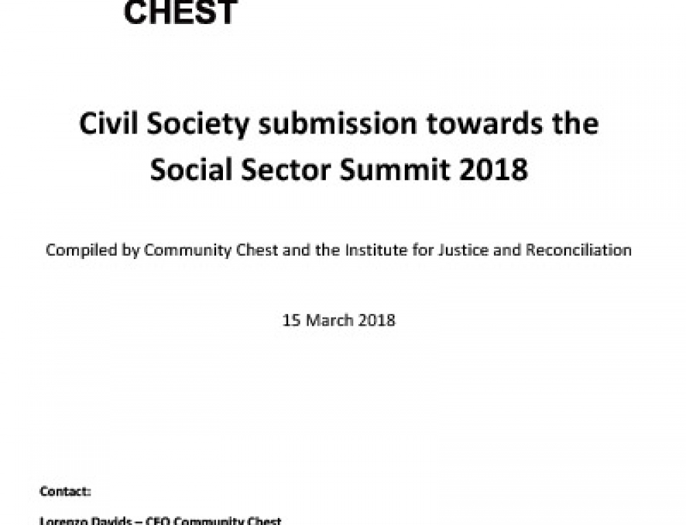 Civil society submission towards the Social Sector Summit 2018