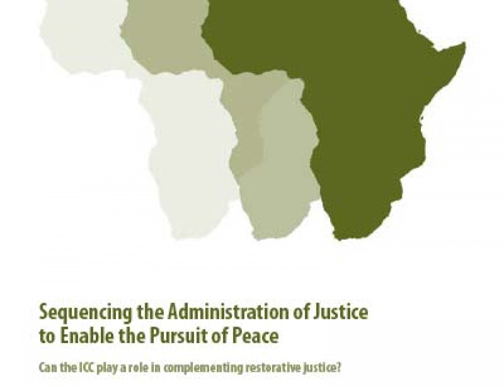 Sequencing the Administration of Justice to Enable the Pursuit of Peace