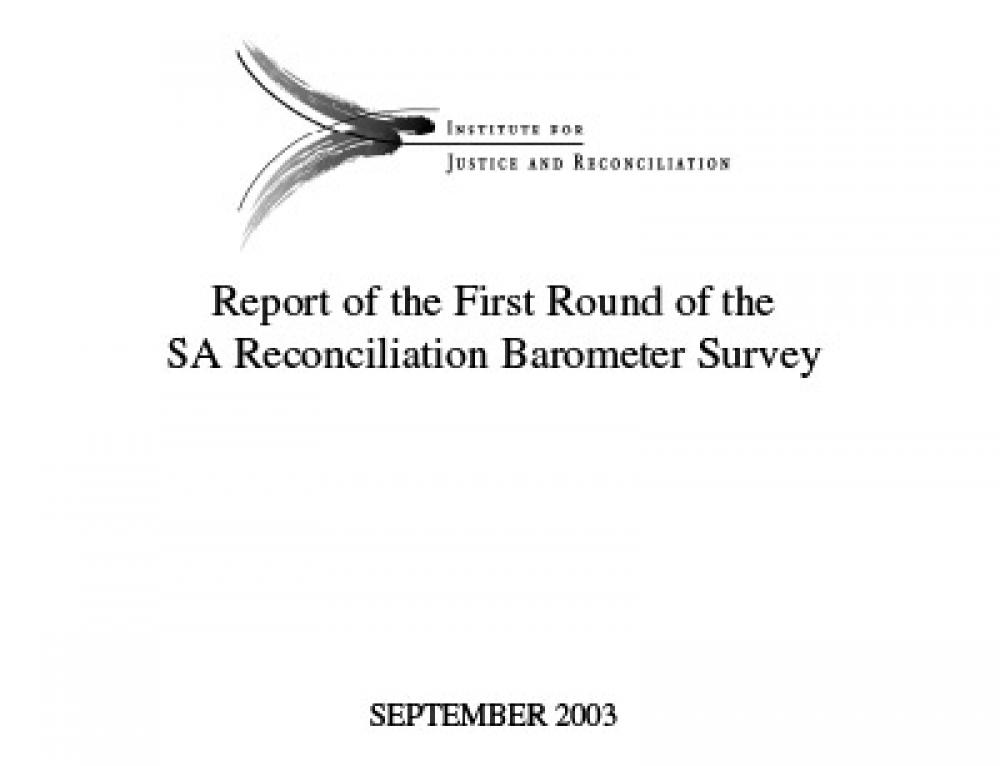 SARB Report 2003 – 1st Round