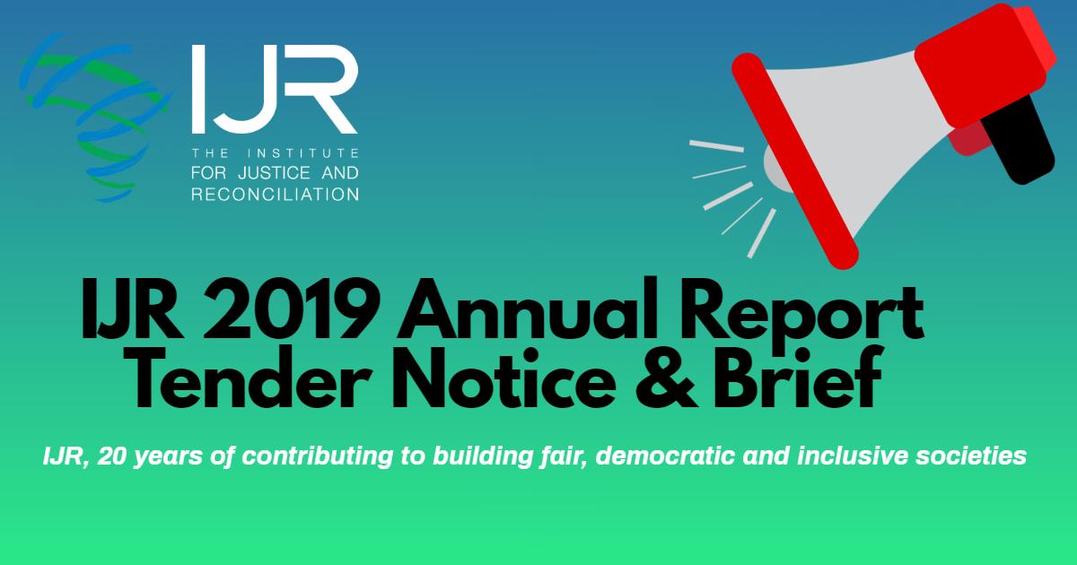 IJR 2019 Annual Report Tender Notice & Brief