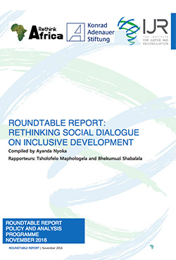 Roundtable Report: Rethinking Social Dialogue on Inclusive Development