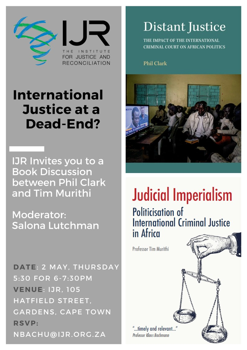 Invitation to a Book Discussion: International Justice at a Dead-End?