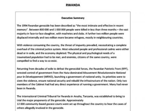 IJR Rwanda Country Profile
