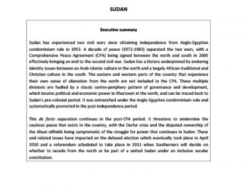 IJR Sudan Country Profile