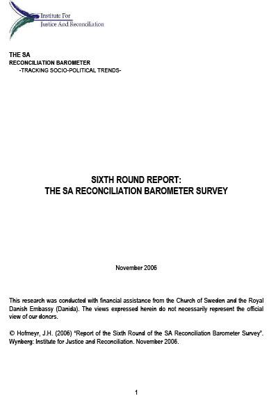 SARB Report 2006 – 6th Round