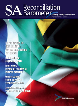 SA Reconciliation Barometer, Volume 5 Issue 1