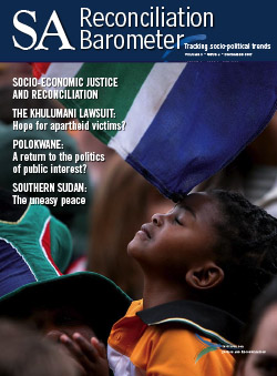 SA Reconciliation Barometer, Volume 5 Issue 4