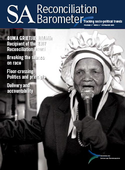 SA Reconciliation Barometer, Volume 5 Issue 3
