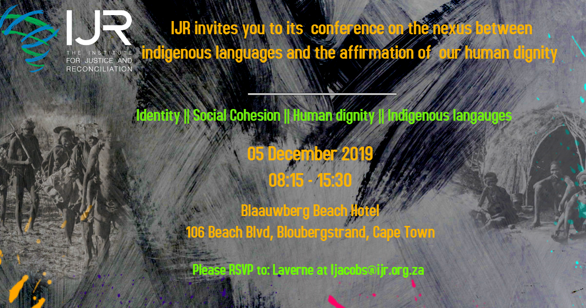The Promotion of Indigenous Languages as a tool toaffirmhuman dignity and foster social cohesion