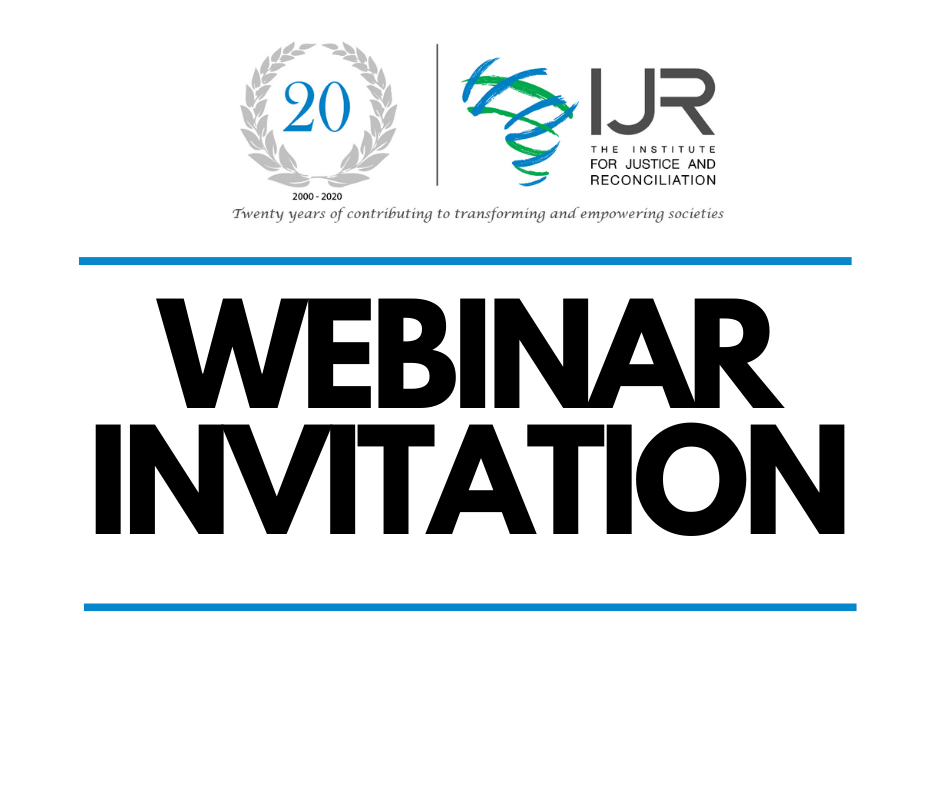 Webinar Invitation: Covid-19, Physical Distancing and Social Cohesion