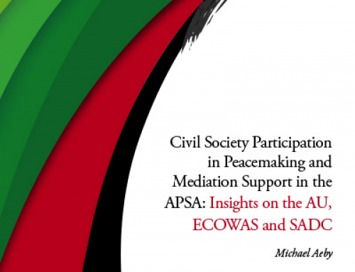 Civil Society Participation in Peacemaking and Mediation Support in the APSA
