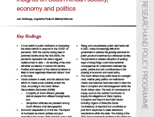 IJR Policy Brief 30: State of the nation