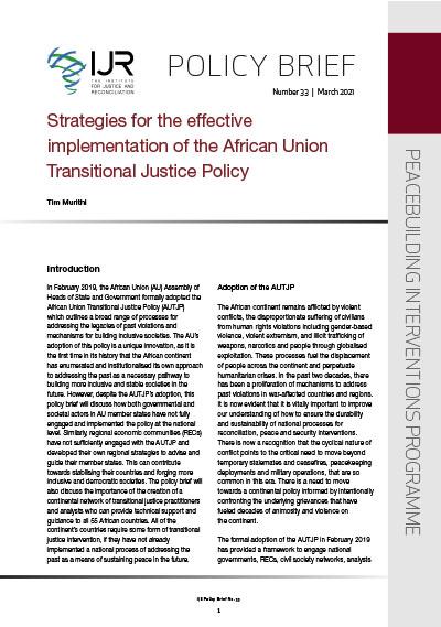 IJR Policy Brief No 33